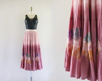 mauve ombre maxi skirt / m