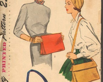 Vintage  Pattern Sewing Simplicity 3322 Misses Purses and Hats