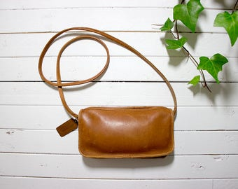 8eb4a9edbe ... Vintage Coach Bag NYC Coach Bag Brown Leather Coach Purse Mini Coach  Purse .