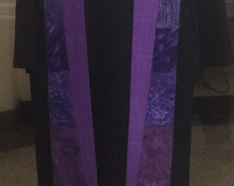 Contemporary Purple Hebron Clergy Stole