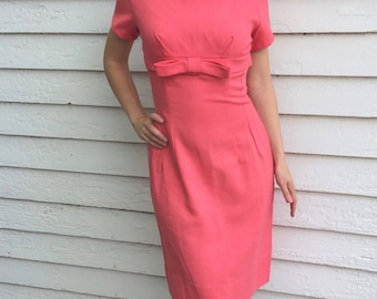 50s Pink Dress 1950s Vintage XS S  32 Bust 26 Waist