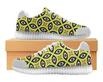 Urban LED Light Up Shoes | Boys Girls Womens Sizes | High Stretch Upper | EVA + Mesh Fabric Insole | 7 Colors | Bold Street Artist Design