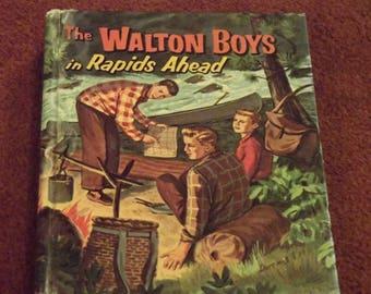 1958 The Walton Boys in RAPIDS AHEAD Book WHITMAN