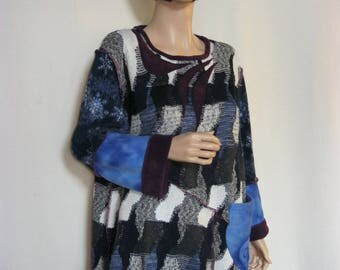 XL to 1X  Blue and Black Tunic