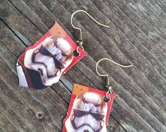Next Generation Storm Trooper Charm Earrings - Lightweight Paper Dangle Earrings - Fashion Jewelry