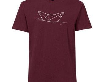 Paperboat Fair Trade / Organic Men Shirt_ dark red