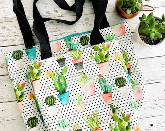 dotted succulent bible bag