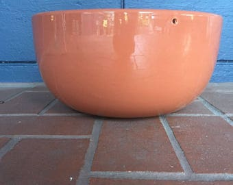Mid Century Orange Hanging Gainey Planter California Architectural Pottery
