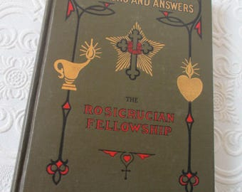 The Rosicrucian Philosophy in Questions and Answers by Max Heindel - 1922 Rare Antique Book - The Rosicrucian Fellowship