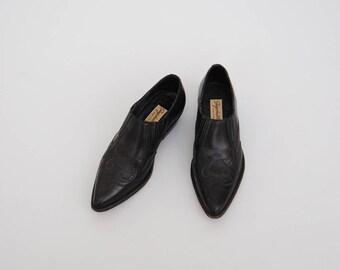 Vintage Seychelles 80s Black Leather Seychelles Ankle Boot Ankle Bootie sz 6