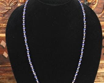 Vintage Lapis Lazuli and Gold Necklace
