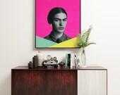 Frida Kahlo Print, Modern Portrait Art - Modern Frida