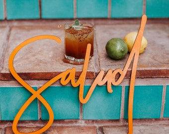 Salud, Unpainted, Laser Cut, Birch Plywood, Mexican and Spanish Inspired Photobooth Signage, Weddings, Birthday Party