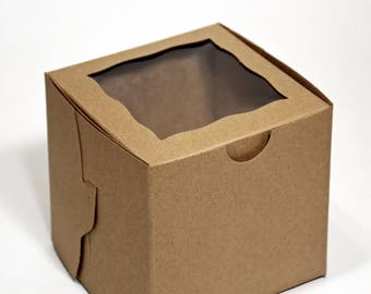 Kraft Cupcake Box * single cupcake * party supplies* paper goods * packaging * picnics * disposables