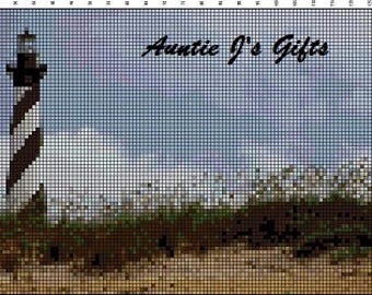 Cross Stitch PATTERN graph for Cape Hatteras lighthouse