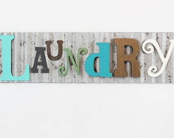 Laundry Sign,Laundry Room Decor,Rustic Laundry Sign,Metal Laundry Sign,Farmhouse