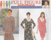 Dress Pattern 2 Piece Dress Misses Plus Size 18w - 20w - 22w - 24w uncut Simplicity 9124