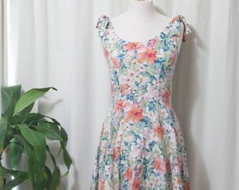floral light spring dress, small, knee length