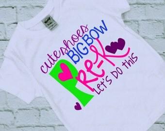 Preschool Shirt - Pre K Shirt - Preschool - First Day of School Shirt - Back to School Shirt - Girls Preschool shirt - School Shirts - Girl