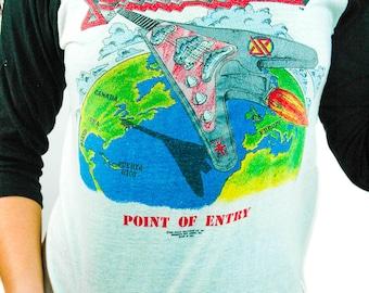 Vintage Judas Priest shirt Point of Entry 1981 World Wide Blitz Concert shirt World Tour Judas Priest tee 50/50 S
