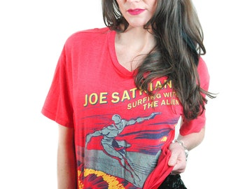 Vintage Joe Satriani shirt Surfing with the Alien 1988 Concert shirt