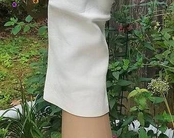 Ladies Vintage White Kidskin Leather Gloves Size 7US