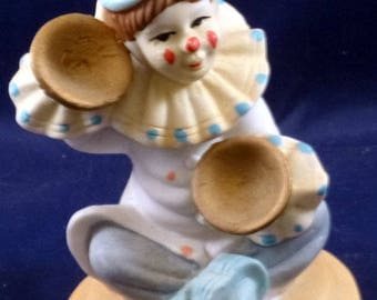 Vintage Happy Clown Figurine, 1980s