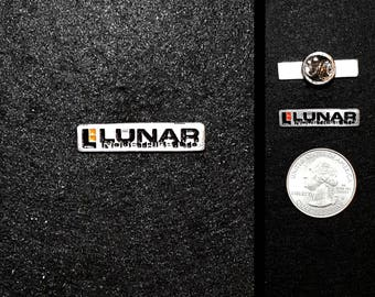 Hand Cast Lunar Industries 1 in. Lapel Pin