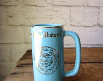 Vintage OSU Mug Oregon State University Blue and Gold Mug
