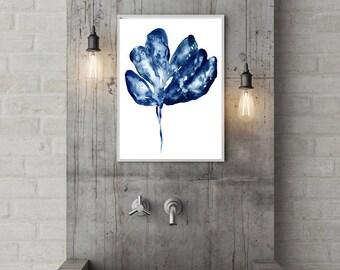 Monstera Print, Monstera Wall Art, Monstera Leaf Art, Monstera Art Print, Monstera Art, Monstera, Monstera Deliciosa, Monstera leaf, blue