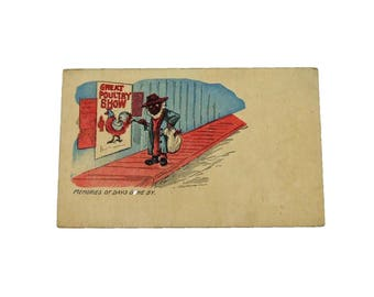Authentic 1940s Black Americana Postcard - Memories of Days Gone By - Unused Postcard Politically Incorrect Classic Black Americana
