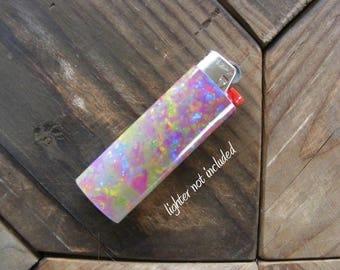 Fire Opal Sticker Vinyl Waterproof for Lighter, wrap, skin, cover, smoke weed, pot, bic, 420