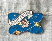 NOW AVAILABLE** Science Matters Planets and Atoms Enamel / Lapel Pin