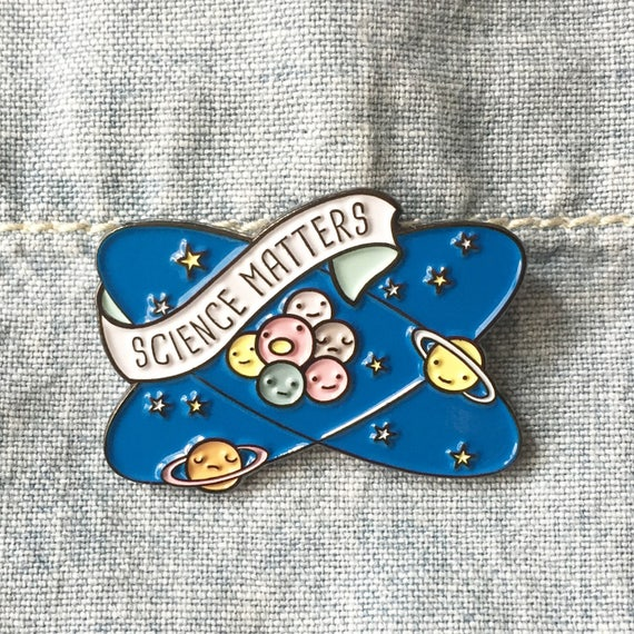 NOW AVAIL** Science Matters Planets and Atoms Enamel / Lapel Pin