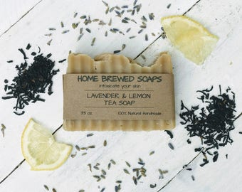 Tea Soap - Earl Grey Tea Soap - Natural Soap - Handmade Soap - Lavender Soap - Herbal Soap - Tea Soap - Soap for Her - Lemon Soap - Tea Soap