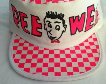 Vintage Pee Wee Herman Hat, Official Pee Wee Baseball Hat, 1980's Herman Toys Inc.