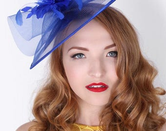 Isla Fascinator - Royal Blue
