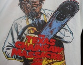 Texas Chainsaw Massacre 2,LEATHERFACE, Vintage T-Shirt,1986,XL,Like New,Silk Screen,DEADSTOCK, Unworn, Video Movie Promotional,Promo