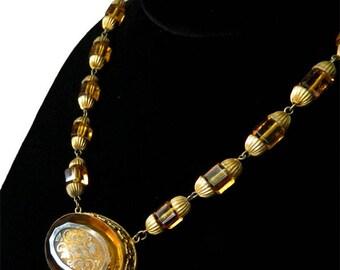 Antique 1920's Czech Beaded Necklace