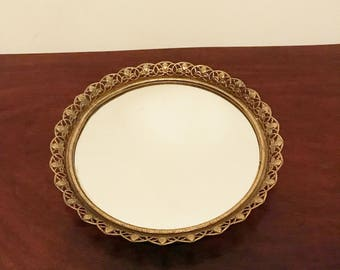 Vintage Mirror Tray / Mid-Century / You Can Hang it Too!