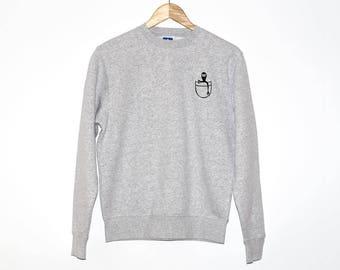 Alien Sweatshirt, Alien Shirt, Alien Hoodie, Alien Clothing, Creature Sweatshirt