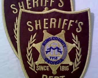 Walking Dead Sheriff Dept. Iron on/Sew on Patches