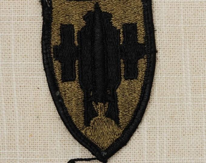 US Army Artillery Vintage Patch Green Black Uniform Sew on 7Z