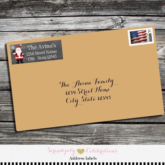 christmas address labels address labels santa claus address label
