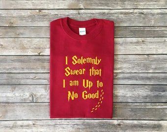 Harry Potter Shirt, I Solemnly Swear I an Up to No good, Hogwarts shirt, harry potter, potter head,