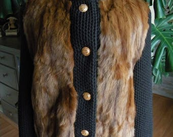 Knit and mink fur sweater / coat