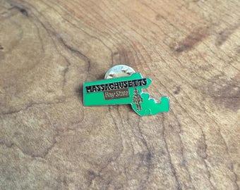 Vintage Massachusetts Pin