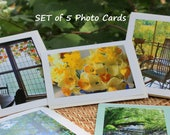 YOUR CHOICE--Photo Greeting Cards with Envelopes, Set of 5, signed