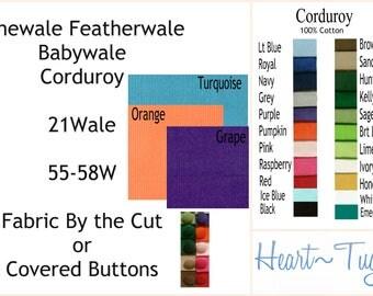 Corduroy Finewale Featherwale Babywale 21 wale Blue Black Kelly Green Lime Honey Turquoise Grape Pumpkin Orange Grape Black Royal Navy Pink