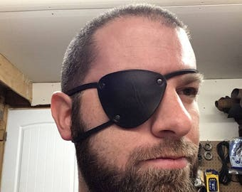 Metal gear solid V snake eye patch made of thick leather, cosplay, pirate